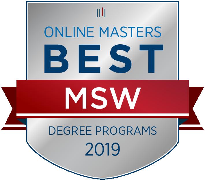 Best Online MSW Programs Badge