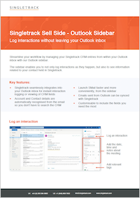 Singletrack Outlook Sidebar