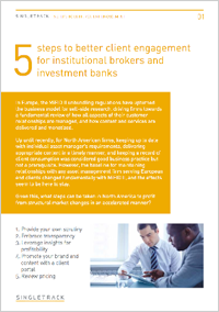 Lessons learnt from MiFID II: Five steps to better client engagement