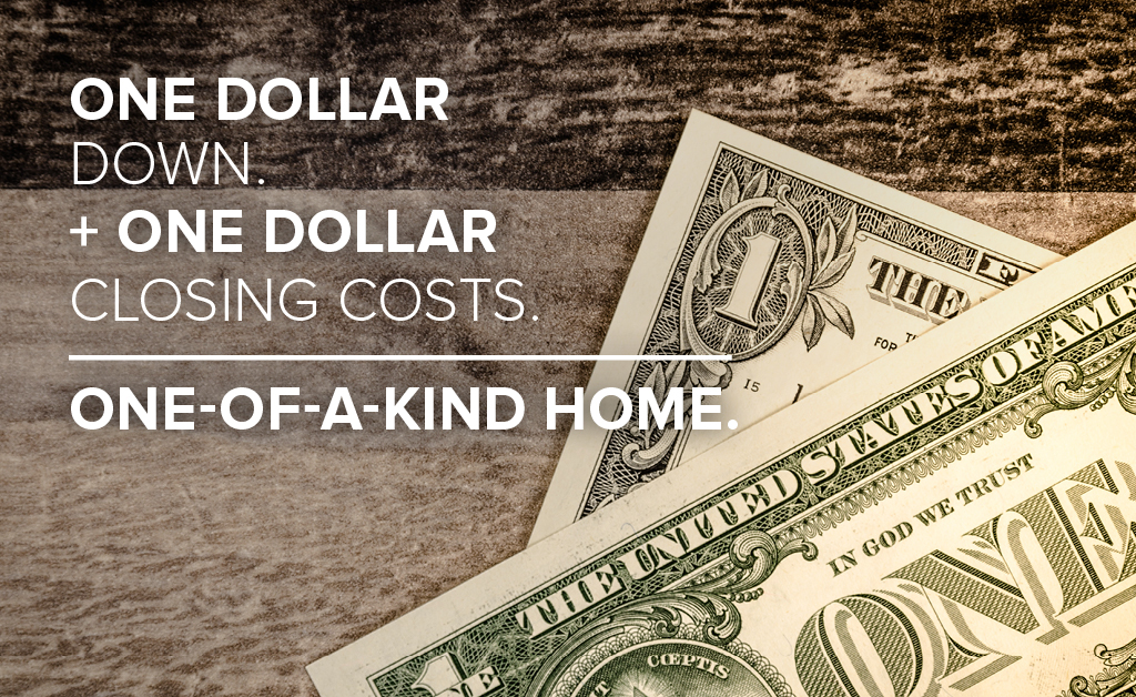 One dollar down no closing costs offer extended