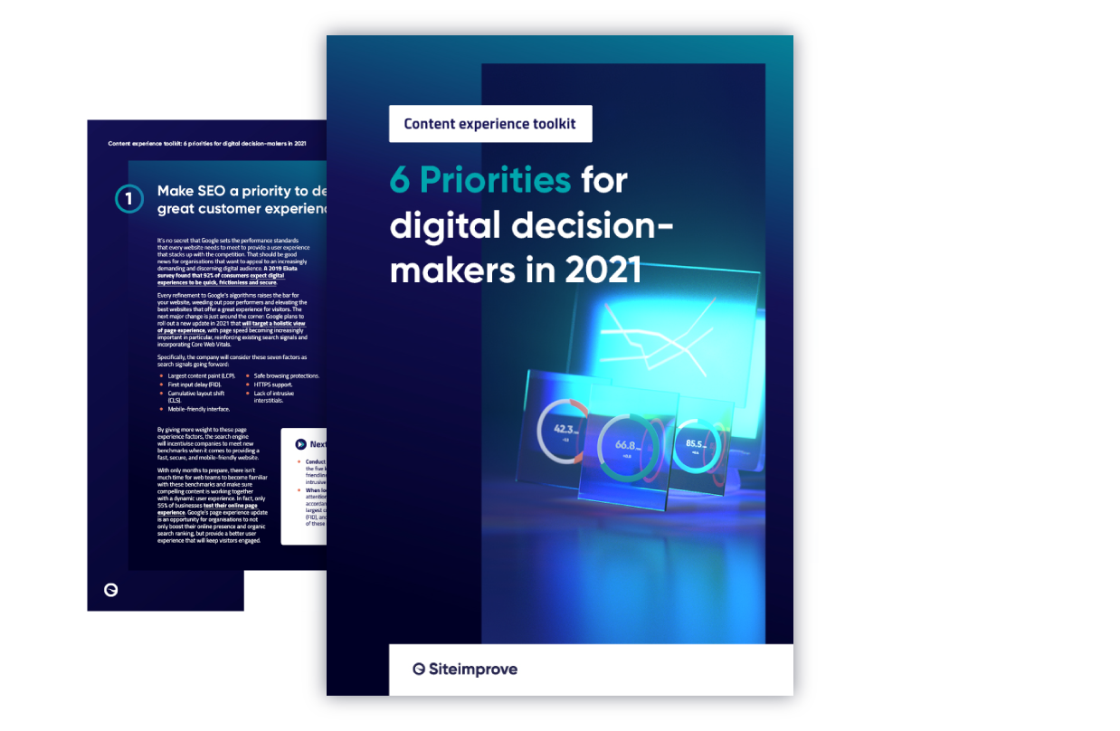 6 Priorities for digital decision-makers in 2021 - Download now