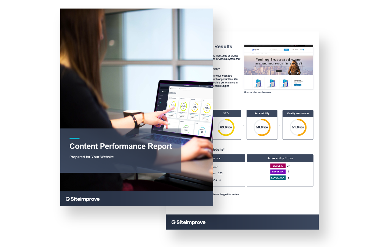Image of Siteimprove's Content Performance Report