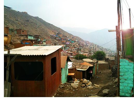 Hillside town in Latin America
