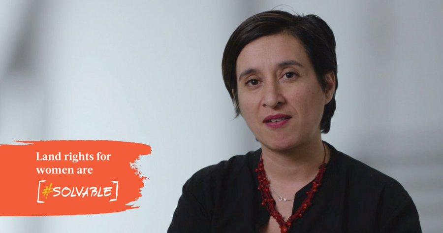 Gina Alvarado: Land rights for women are solvable.