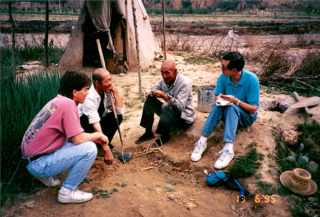 Landesa staff interviewing farmers in China, June 1995