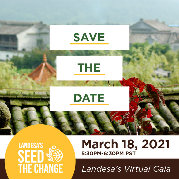Save the Date - Landesa's Seed the Change on March 18, 2021 5:30pm-6:30pm PST