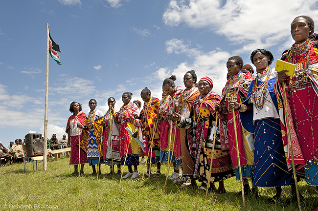 Women in Kenya are helping to settle land disputes as traditional village elders. Photographer: Deborah Espinosa