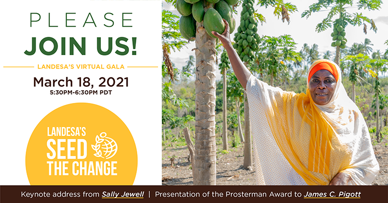 You're Invited - Landesa's Seed the Change on March 18, 2021 5:30pm-6:30pm PDT