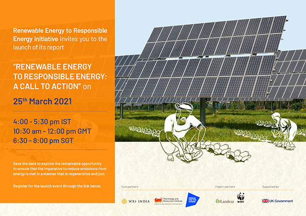 Renewable Energy to Responsible Energy: A Call to Action | 25th March 2021