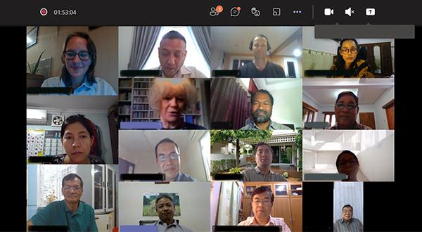 Screenshot of Southeast Asia regional video conference on land law harmonization