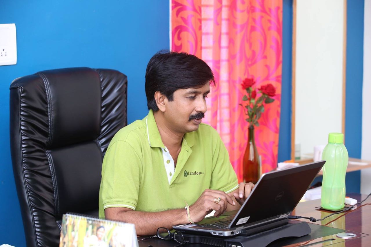 S B Lokesh at work