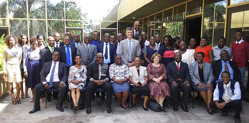 Group photo at ADR training in Zimbabwe