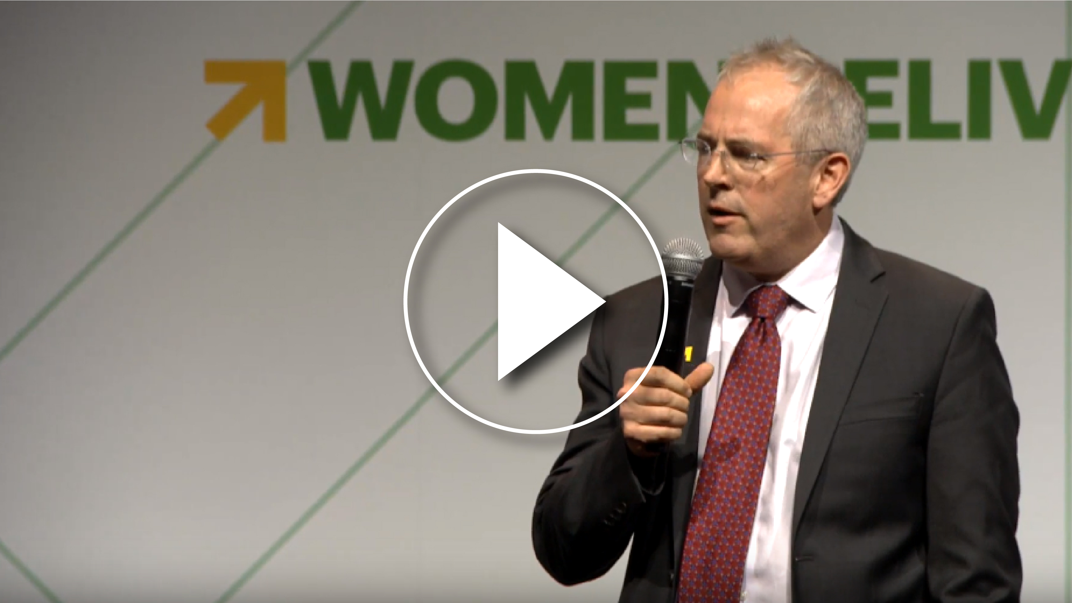 Chris Jochnick speaking at Women Deliver 2019
