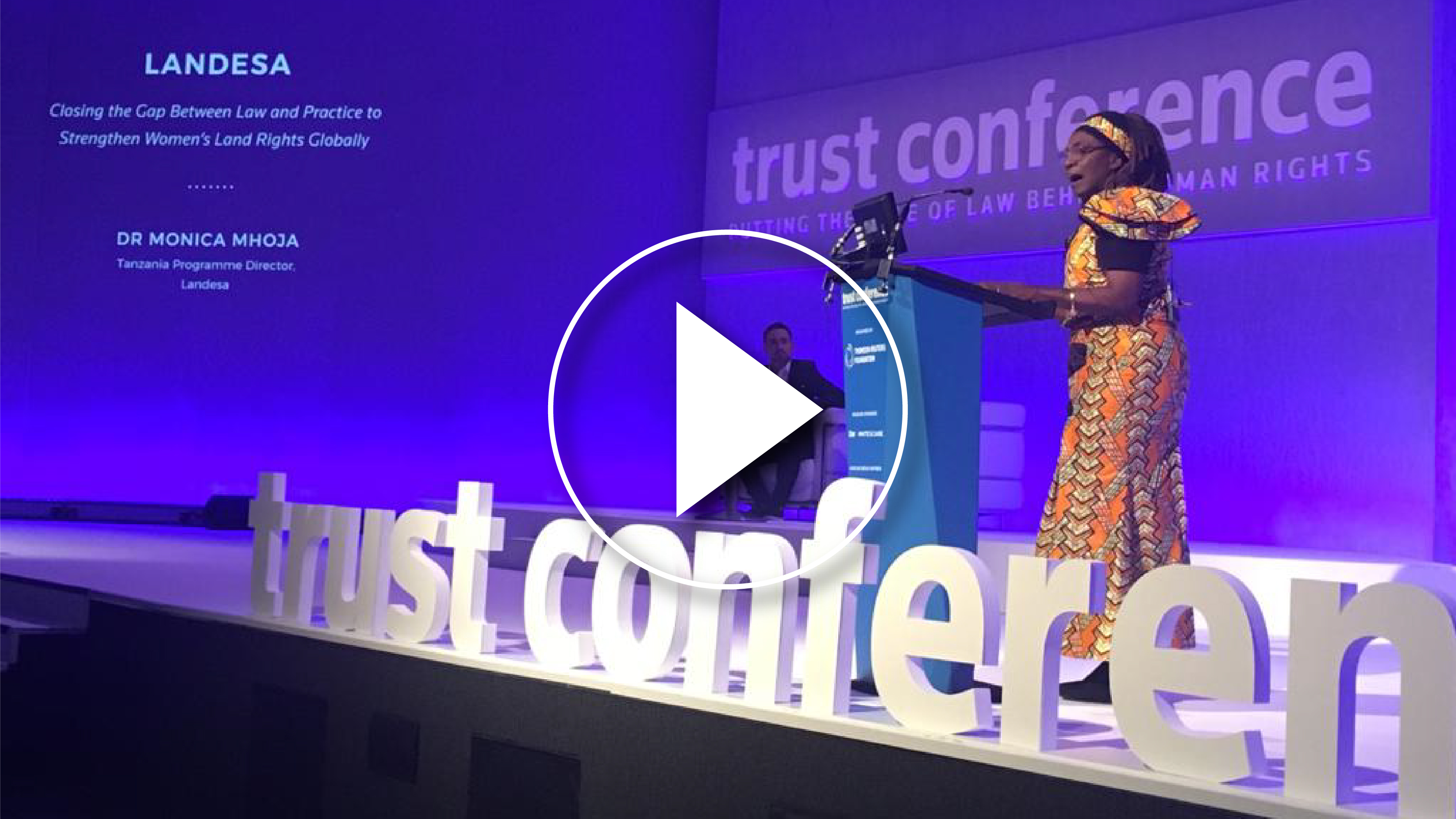 Video of Monica Mhoja speaking at the Trust Conference