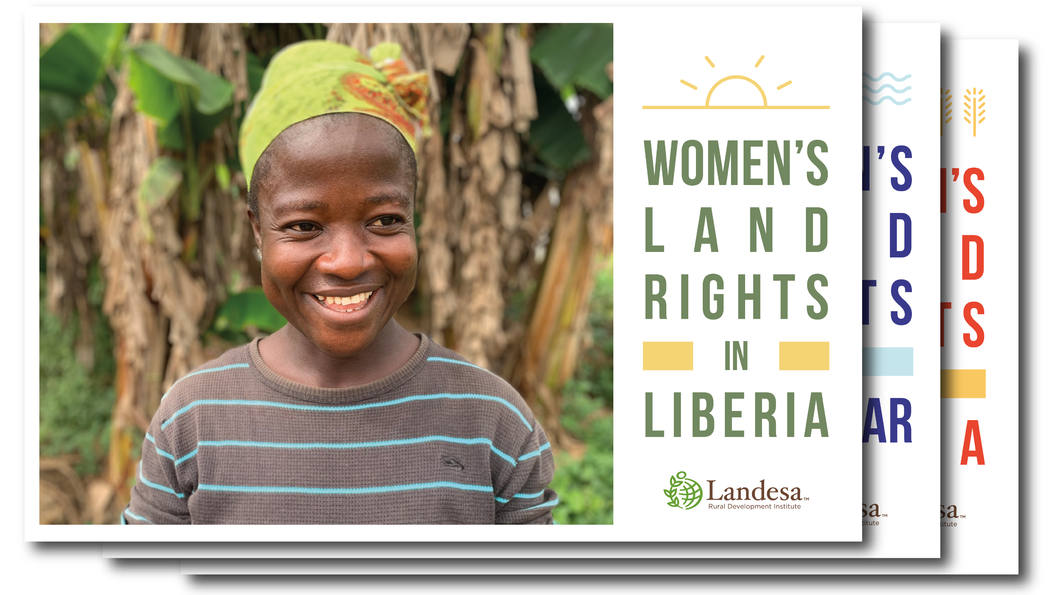 Postcards promoting women's land rights