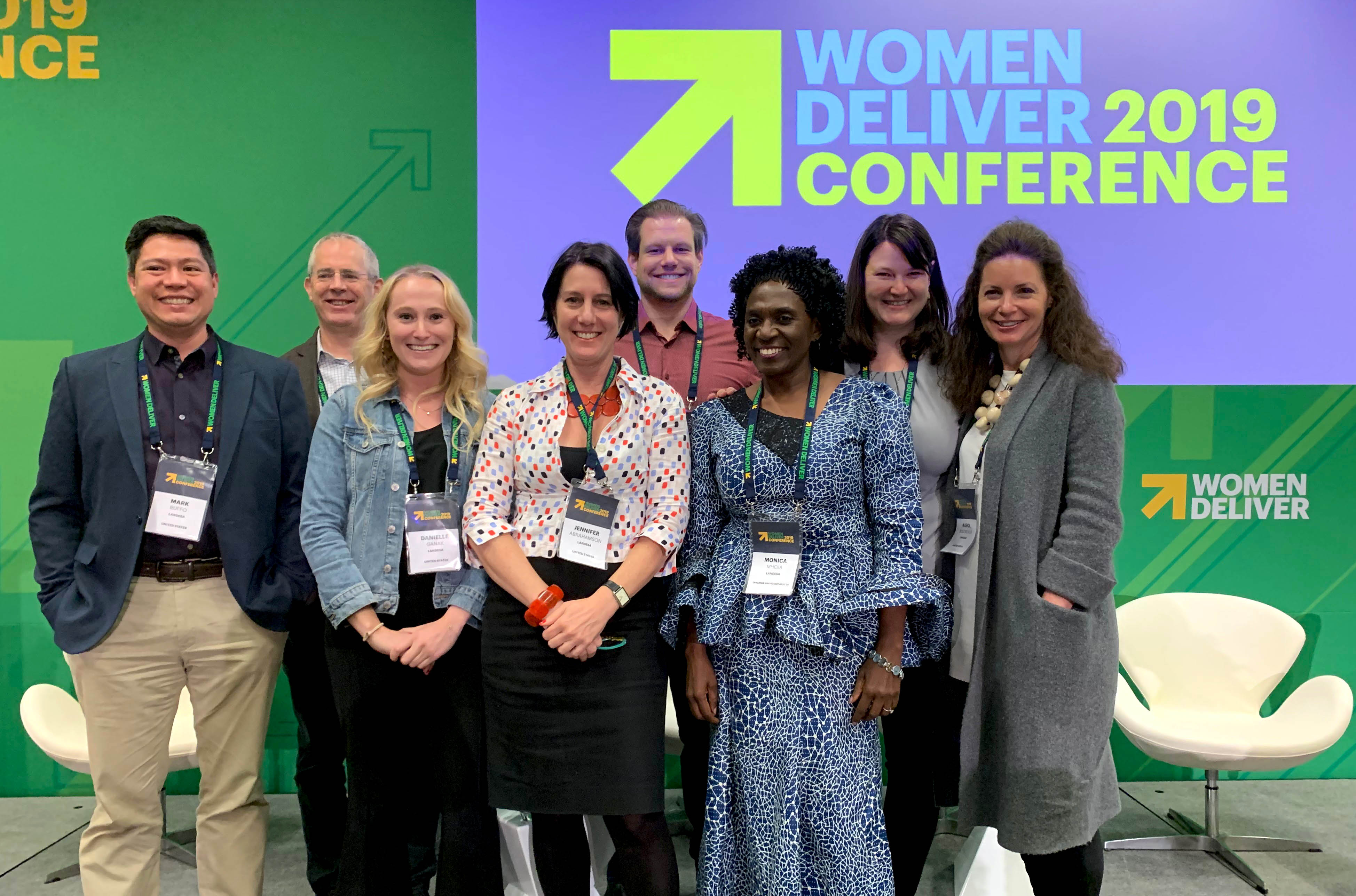Group photo of Landesa staff attending the Women Deliver conference.