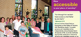 People with disability in a church