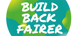 World with Build Back Better Slogan
