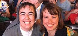 Sr Alessandra Smerilli and friend
