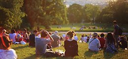 People sitting in a park