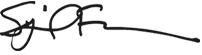 Sybil Francis, Ph.D signature