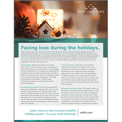 Facing Loss During the Holidays Handout