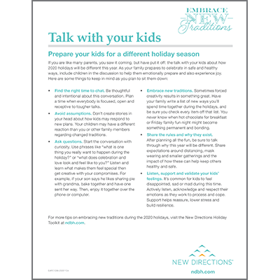 Talking to Kids About COVID-19 Tip Sheet