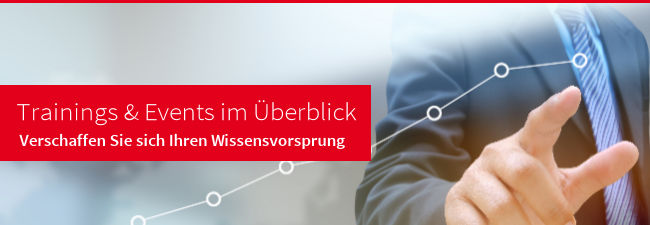 Trainings & Events im Überblick