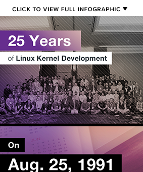 25 Years of Kernel Development - Infographic