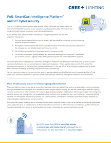 FAQ: SmartCast and IoT Cybersecurity