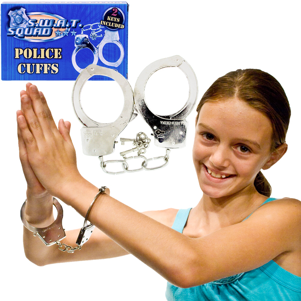 Metal Handcuffs with 2 Keys 11in