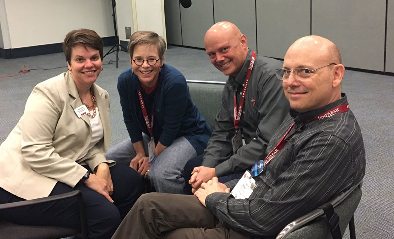 Joanna Grama, Ann West, Kevin Morooney, and Steve Zoppie at Educause