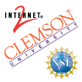 Clemson, Internet2, NSF logos