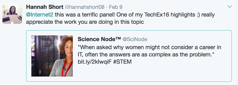 Hannah Short tweet screenshot