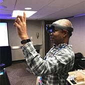 virtual reality demo at TechEX17