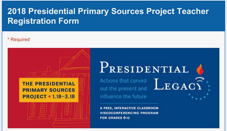 2018 Presidential Primary Sources Project events