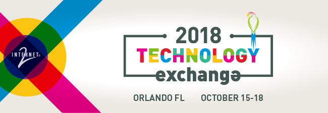 2018 Internet2 Technology Exchange banner