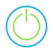 reboot symbol in InCommon blue and green