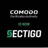 Comodo is now Sectigo graphic with logos