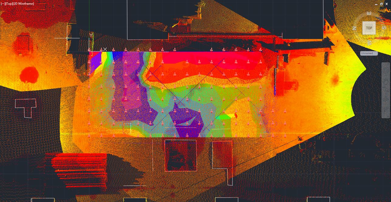 Concrete Floor Flatness Scan