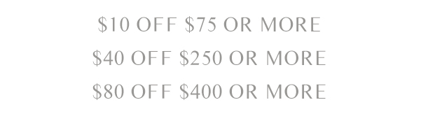 TAKE UP TO $80 OFF