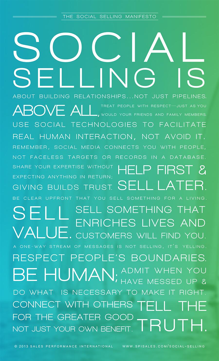 Social Selling Manifesto comentado por ExpoConsultores
