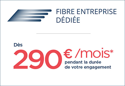 Fibre Entreprise 290euros/mois