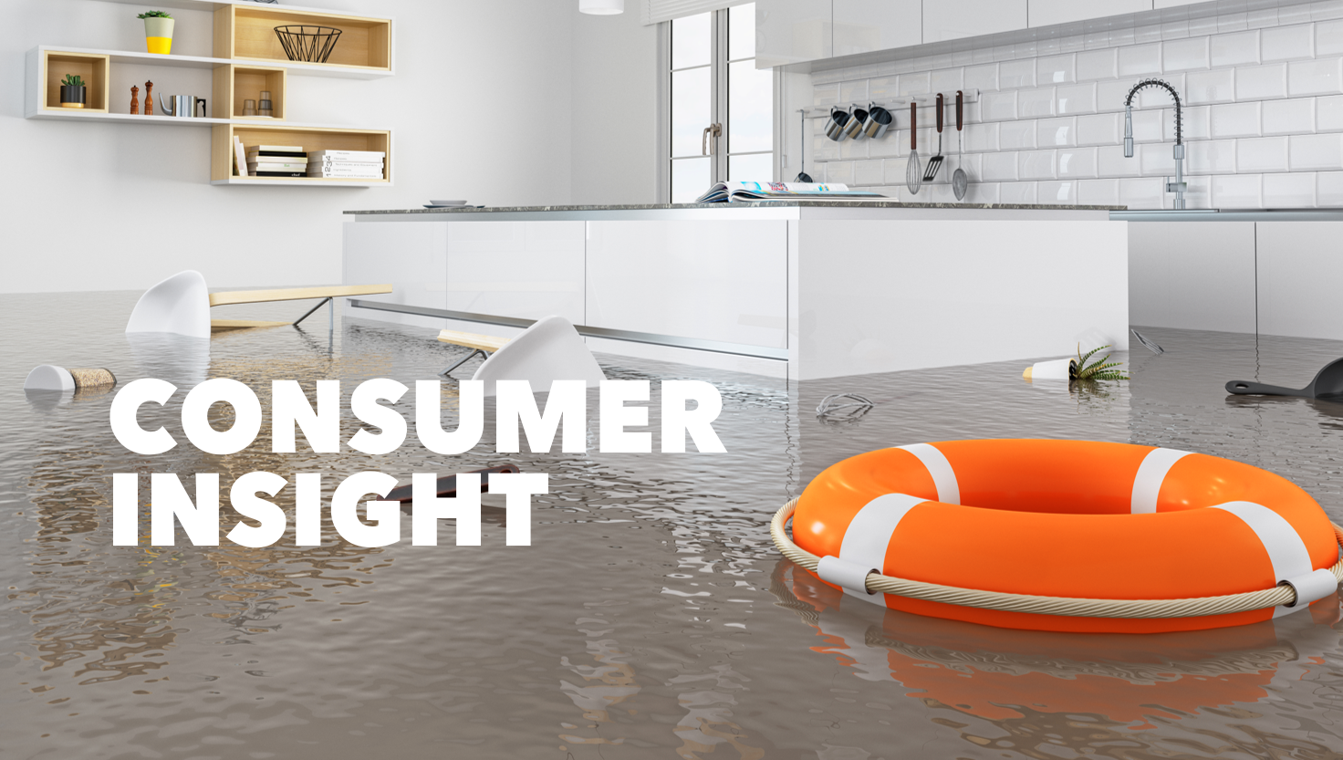 a flooded kitchen