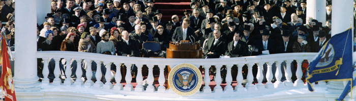 JFK gives inaugural address at Capitol