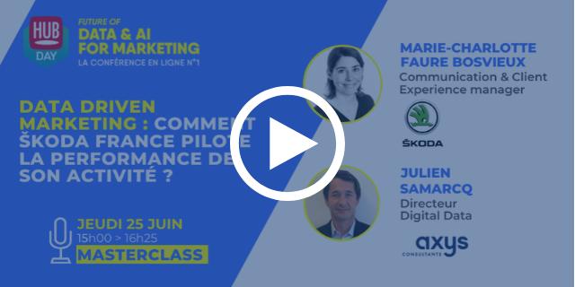 Masterclass: Data driven marketing : comment ŠKODA France pilote la performance de son activité ?