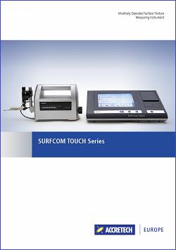Catalogo SURFCOM TOUCH Series
