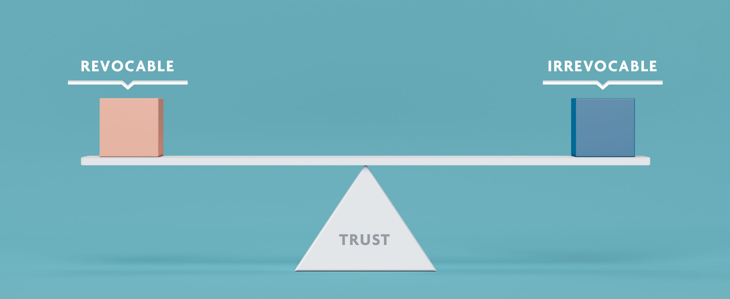 Seesaw balance between different types of trusts.