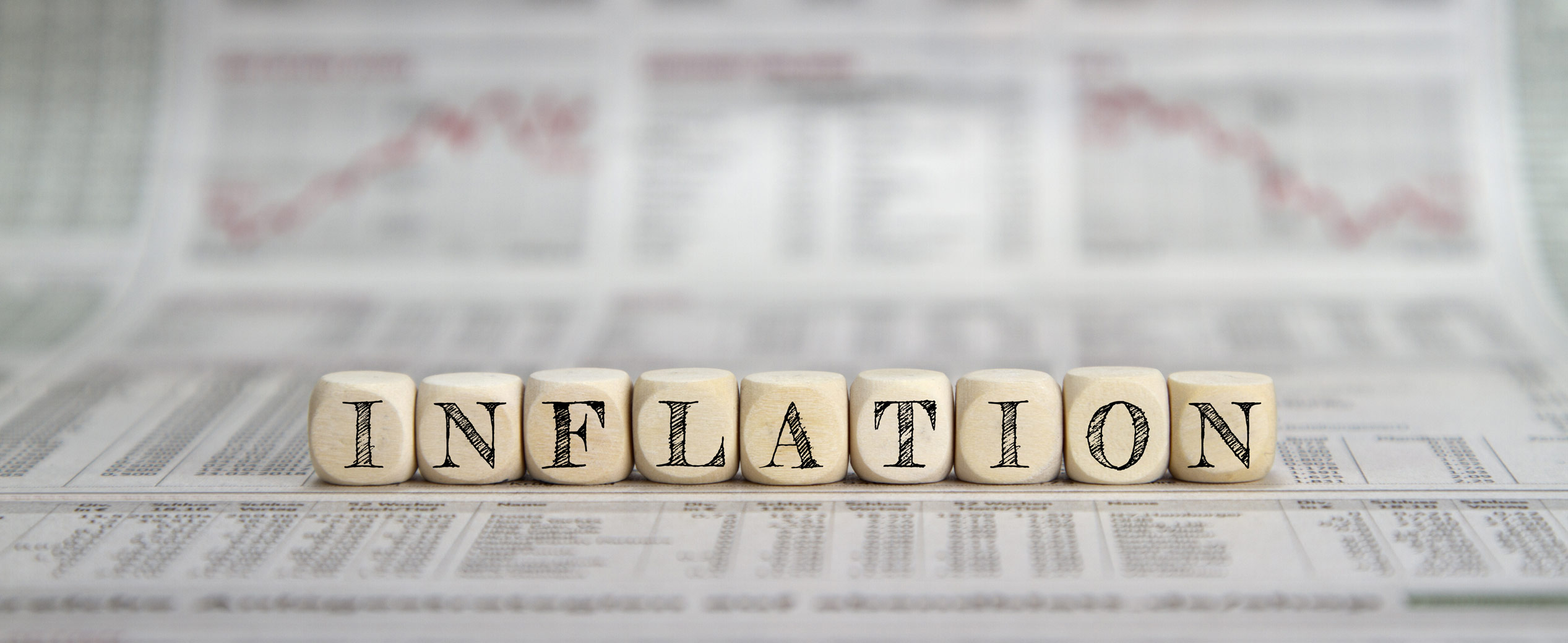 Blocks spelling out inflation.