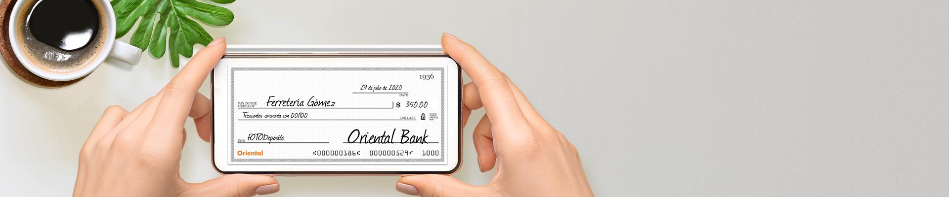 Deposita cheques con FOTOdepósito.